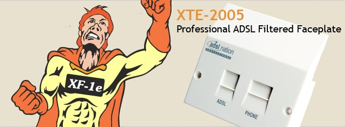XTE-2005 Professional ADSL Filtered Faceplate